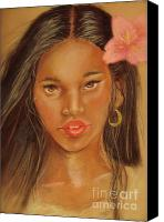 Young Pastels Canvas Prints - Exotic Beauties Canvas Print by Sandra Valentini