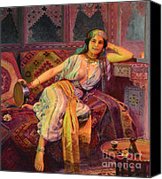 Orientalist Canvas Prints - Exotic  Beauty Canvas Print by Pg Reproductions