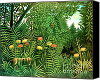 Storm Painting Canvas Prints - Exotic Landscape by Henri Rousseau Canvas Print by Pg Reproductions