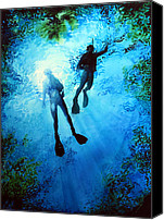 Sports Art Painting Canvas Prints - Exploring New Worlds Canvas Print by Hanne Lore Koehler