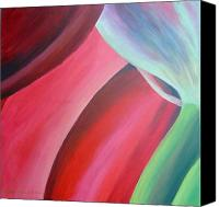 Abstract Flower Canvas Prints - Extrait Canvas Print by Muriel Dolemieux