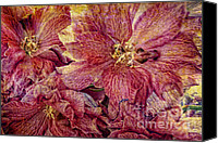 Purple Floral Canvas Prints - Extreme Canvas Print by Kristin Kreet