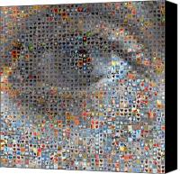 Human Canvas Prints - Eye 1  Canvas Print by Boy Sees Hearts
