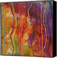 Art Quilt Tapestries - Textiles Canvas Prints - Eye Candy Canvas Print by Jenny Williams
