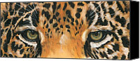 Wildcats Canvas Prints - Eye-Catching Jaguar Canvas Print by Barbara Keith