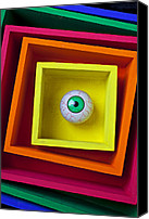 Stare Canvas Prints - Eye In The Box Canvas Print by Garry Gay
