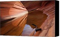 Sandstone  Canvas Prints - Eye of the Wave Canvas Print by Mike  Dawson