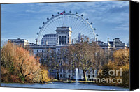 London Skyline Canvas Prints - Eyeing the View Canvas Print by Joan Carroll