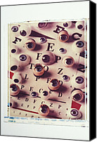 Glass Photo Canvas Prints - Eyes on eye chart Canvas Print by Garry Gay