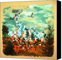 Ontario Mixed Media Canvas Prints - Eyrie 2012 Canvas Print by Jill PRICE
