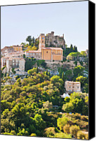 Medieval Canvas Prints - Eze, Cote Dazur, France Canvas Print by John Harper
