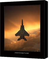  Poster Art Digital Art Canvas Prints - F-15 Eagle Canvas Print by Larry McManus
