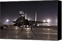Afghanistan Canvas Prints - F-15E as a Rock Star Canvas Print by Tim Grams