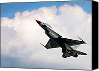 Thunderbird Canvas Prints - F-16 Falcon Canvas Print by Murray Bloom