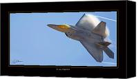 Aircraft Poster Photo Canvas Prints - F-22 Raptor Canvas Print by Larry McManus
