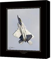 Aircraft Poster Photo Canvas Prints - F-22 Raptor Tailwalking Canvas Print by Larry McManus