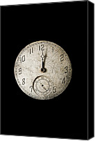 Minute Digital Art Canvas Prints - Face of Time Canvas Print by David Paul Murray