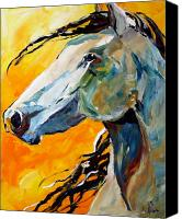 Pony Painting Canvas Prints - Facing the Sun Canvas Print by Laurie Pace