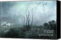 Textured Landscape Canvas Prints - Facing the Unknown Together Canvas Print by Ellen Cotton