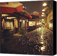 Rain Canvas Prints - Fados Patio After A Rain Canvas Print by James Granberry