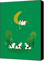 Moon Canvas Prints - Fail Canvas Print by Budi Satria Kwan