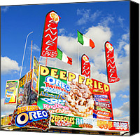 Florida State Canvas Prints - Fair Food Canvas Print by David Lee Thompson