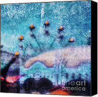 Melbourne Canvas Prints - Fairground Innocence Canvas Print by Andrew Paranavitana