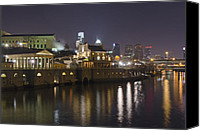 Philadelphia Skyline Canvas Prints - Fairmount Water Works - Philadelphia  Canvas Print by Brendan Reals