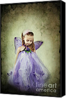 Tulle Canvas Prints - Fairy Child Canvas Print by Stephanie Frey