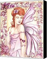 Fantasy Fairy Drawings Canvas Prints - Fairy Collection 2 Canvas Print by Morgan Fitzsimons