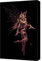 Faerie Canvas Prints - Fairy Star Child Canvas Print by David Bollt