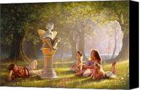 Reading Painting Canvas Prints - Fairy Tales  Canvas Print by Greg Olsen