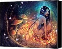 Faerie Canvas Prints - Fairydust Nest Canvas Print by Caroline Jamhour