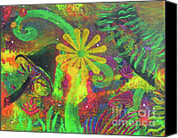 Forest Floor Painting Canvas Prints - Fairyland - 5 Canvas Print by Jacqueline Athmann