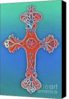 Christian Sacred Digital Art Canvas Prints - Faith Canvas Print by Gwyn Newcombe