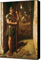 Military Uniform Painting Canvas Prints - Faithful unto Death Canvas Print by Sir Edward John Poynter