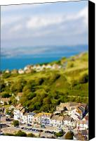 Miniature Effect Canvas Prints - Fake toy village view Canvas Print by Simon Bratt Photography