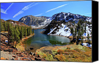 Mountains Canvas Prints - Fall At Ellery Lake Canvas Print by David Toussaint - Photographersnature.com