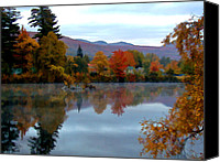 Androscoggin River Canvas Prints - Fall Colors Canvas Print by Dan McManus