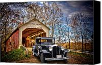 Collaboration Canvas Prints - Fall Country Drive Canvas Print by Bill Dutting