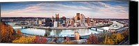 Steelers Canvas Prints - Fall in Pittsburgh  Canvas Print by Emmanuel Panagiotakis