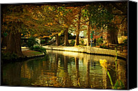 San Antonio Canvas Prints - Fall in San Antonio Canvas Print by Iris Greenwell
