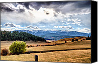 Mountain View Canvas Prints - Fall in the Beartooths Canvas Print by Joel Lavold