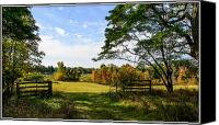 Metamora Canvas Prints - Fall Morning at the Hunt Canvas Print by Howard  Hackney