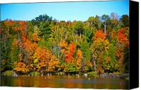 Fall Foliage Artwork Canvas Prints - Fall on the water Canvas Print by Robert Pearson