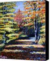 Paul Walsh Canvas Prints - Fall Path Canvas Print by Paul Walsh