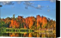Colorado Artwork Canvas Prints - Fall Reflection-2 Canvas Print by Robert Pearson