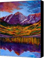 Birch Canvas Prints - Fall Symphony Canvas Print by Johnathan Harris