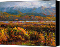 Overcast Painting Canvas Prints - Fall Canvas Print by Talya Johnson