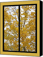 Storm Mixed Media Canvas Prints - Fall Wind Diptych Canvas Print by Steve Ohlsen